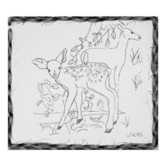 Freehand Pencil Sketch Wall Decor Posters