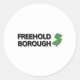 Freehold Borough, New Jersey Classic Round Sticker