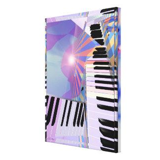 Freeing Keyboard Music Canvas Print