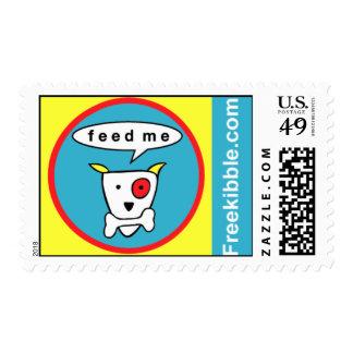 "Freekibble ""feed me"" postage stamp"
