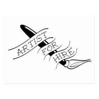 Freelance Artist - Paint Brush Postcard