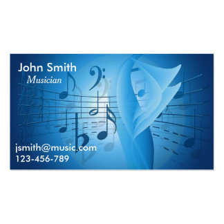 Freelance Musician, session musician Music Business Card