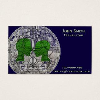 Freelance Translator language interpreter Business Card