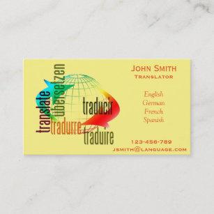 Freelance translator business cards zazzle freelance translator language interpreter business card colourmoves