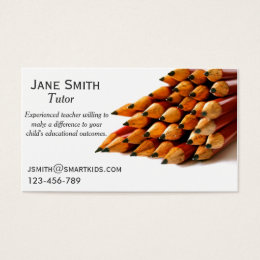 Freelance tutor or teacher stylish pencil business card