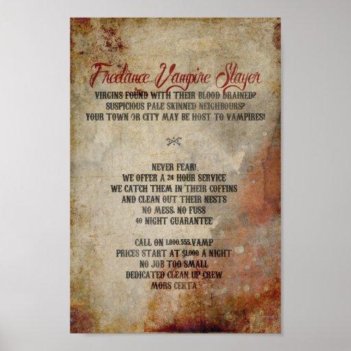 Freelance Vampire Slayer Poster
