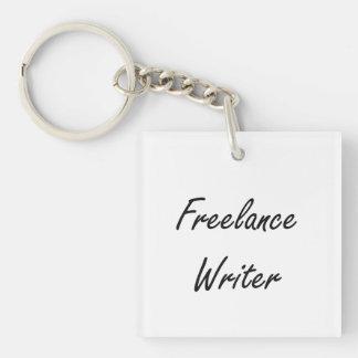 Freelance Writer Artistic Job Design Single-Sided Square Acrylic Keychain