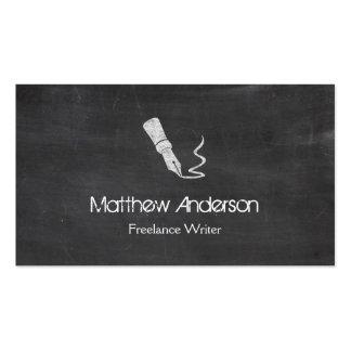 Freelance Writer - Blackboard Chalkboard Look Double-Sided Standard Business Cards (Pack Of 100)