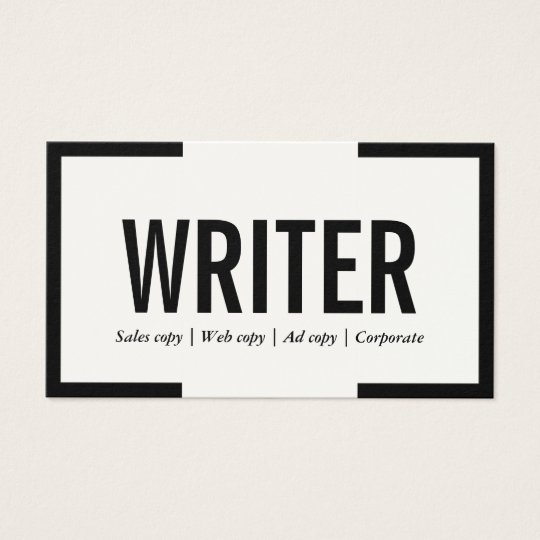 Business cards for writers freelance writer best for Freelance business cards
