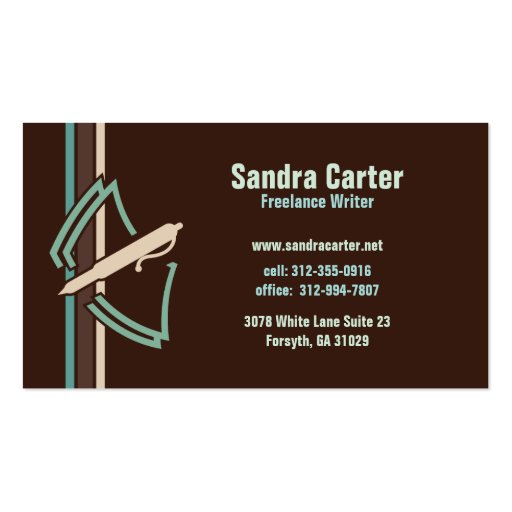 Freelance Writer Business Card
