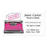 Freelance Writer Business Cards/Pink Cheetah Business Card