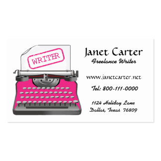 Freelance Writer Business Cards/Pink Cheetah Business Card