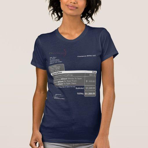 Freelance Writer Dark Shirts