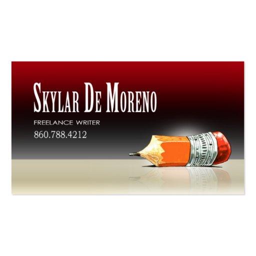 Freelance Writer Editor 5 Stylish Business Cards