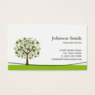 Freelance Writer - Elegant Wish Tree Business Card