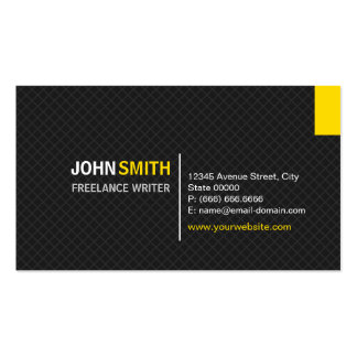 Freelance Writer - Modern Twill Grid Double-Sided Standard Business Cards (Pack Of 100)