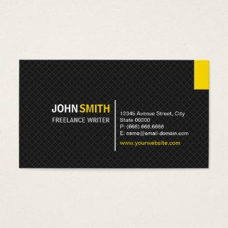 Freelance Writer - Modern Twill Grid Business Card