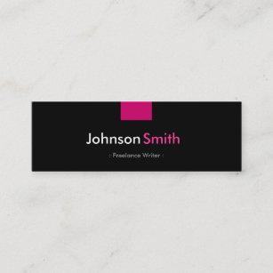 Freelance writer business cards zazzle freelance writer rose pink compact mini business card colourmoves