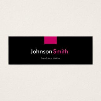 Freelance Writer - Rose Pink Compact Mini Business Card