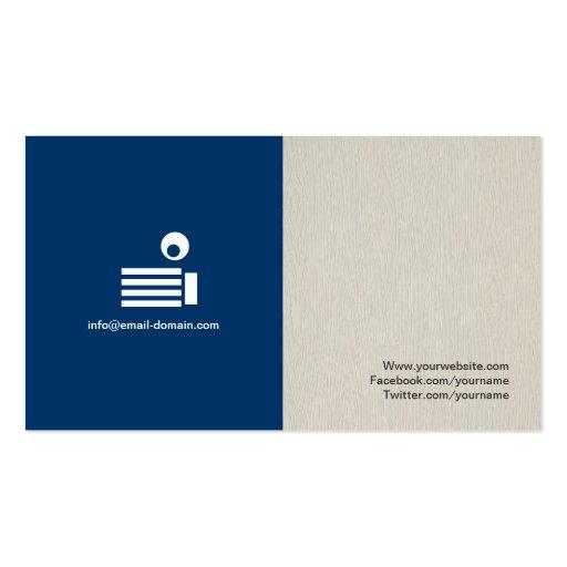 Freelance Writer - Simple Elegant Stylish Business Cards (back side)