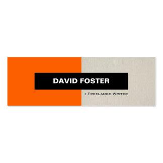 Freelance Writer - Simple Elegant Stylish Double-Sided Mini Business Cards (Pack Of 20)