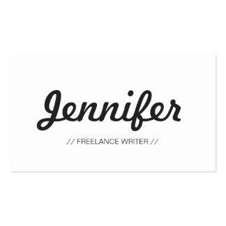 Freelance Writer - Stylish Simple Concise Business Card