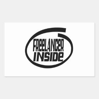 Freelancer dentro pegatina rectangular