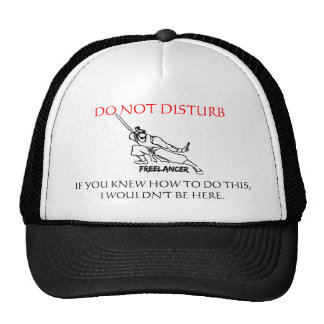 FREELANCER, DO NOT DISTURB TRUCKER HAT