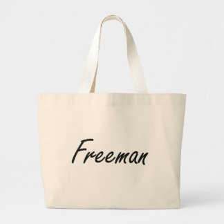 Freeman Artistic Name Design Jumbo Tote Bag