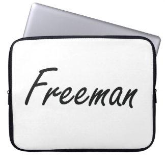 Freeman Artistic Name Design Computer Sleeves