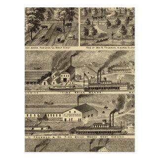 Freeman Brothers Works, Ohio Postcard