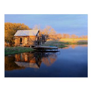 Freeman Cabin Montague County Forrestburg Texas Postcard