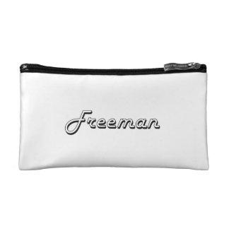 Freeman Classic Retro Name Design Makeup Bag