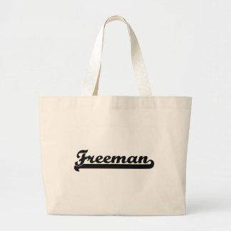 Freeman Classic Retro Name Design Jumbo Tote Bag