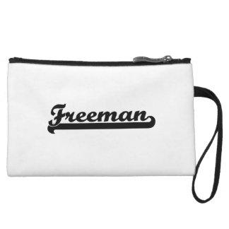 Freeman Classic Retro Name Design Wristlet Clutches