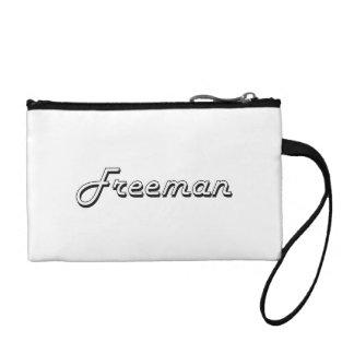 Freeman Classic Retro Name Design Change Purses