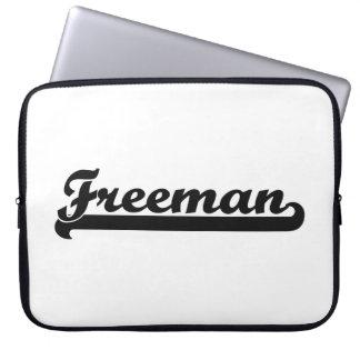 Freeman Classic Retro Name Design Laptop Sleeve