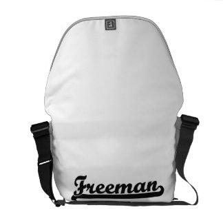 Freeman Classic Retro Name Design Courier Bag