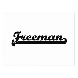 Freeman Classic Retro Name Design Postcard