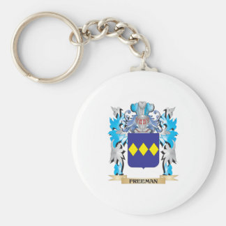Freeman Coat of Arms - Family Crest Basic Round Button Keychain
