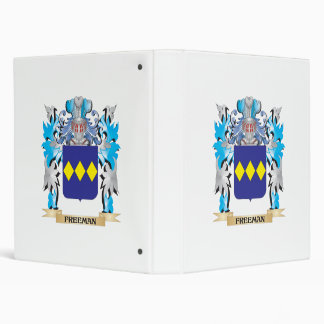 Freeman Coat of Arms - Family Crest 3 Ring Binders