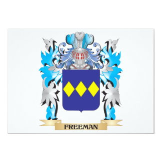 Freeman Coat of Arms - Family Crest 5x7 Paper Invitation Card