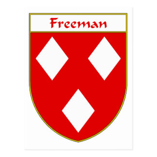 Freeman Coat of Arms/Family Crest Postcard