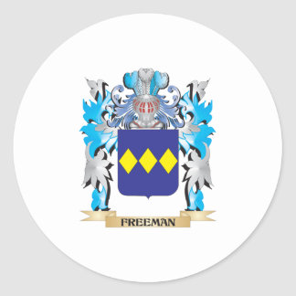 Freeman Coat of Arms - Family Crest Round Sticker