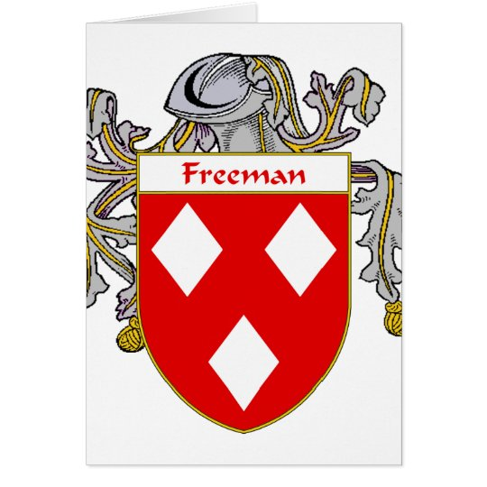 Freeman Coat of Arms (Mantled) Card