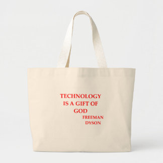 freeman dyson quote large tote bag