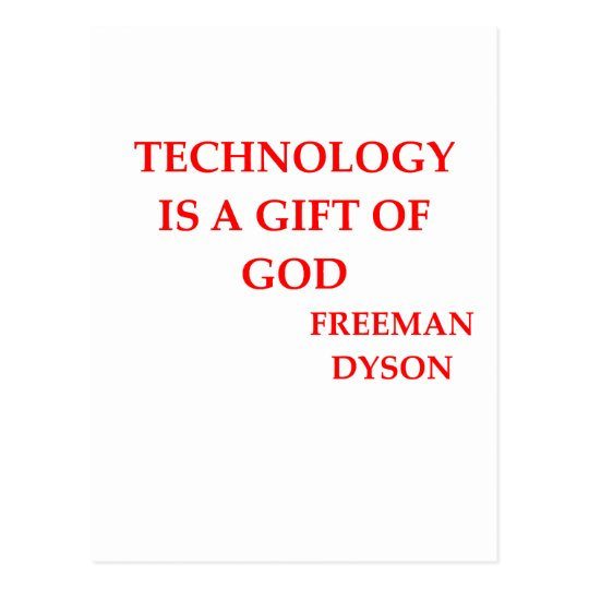 freeman dyson quote postcard