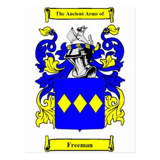 Freeman (English) Coat of Arms Postcard