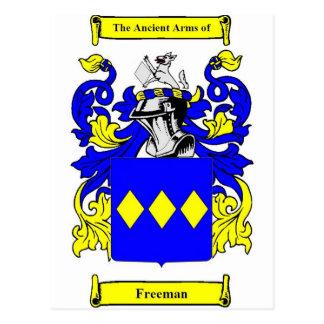 Freeman (English) Coat of Arms Postcard