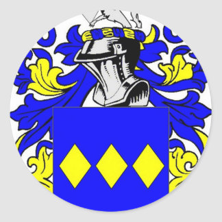 Freeman (English) Coat of Arms Round Stickers